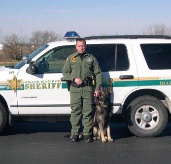 k9 police dog with officer